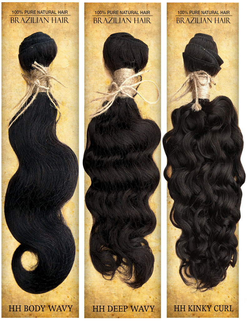 Top Hair Design Weave Extention - BRAZILIAN 100% Virgin Human Hair HH DEEP WAVY Weave Extention