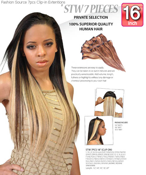 Fashion source stw16 clip in hair extension pmusecretfo Choice Image