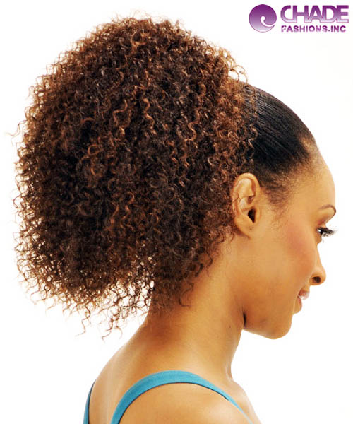 Jerry Curl Human Hair Ponytail Triple Weft Hair Extensions