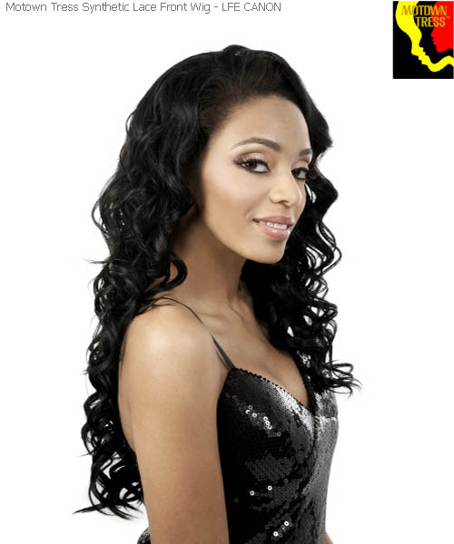 Motown Tress LFE-CANON  -  Futura Synthetic Deep Motown Lace Wig