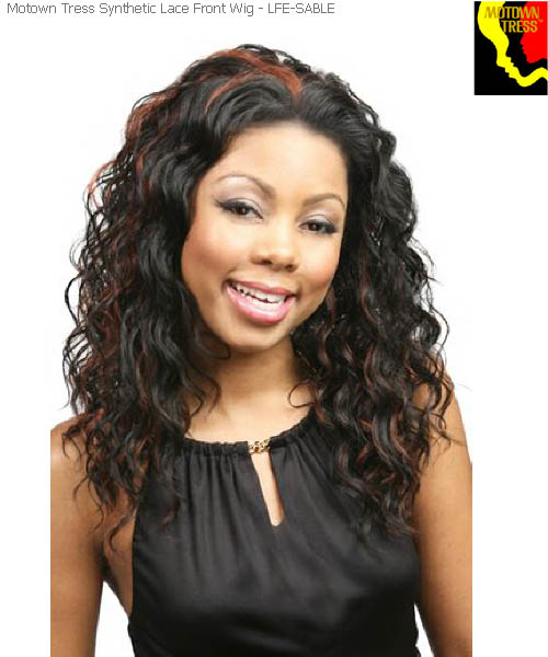 Motown Tress LFE-SABLE  -  Futura Synthetic Motown Lace Wig