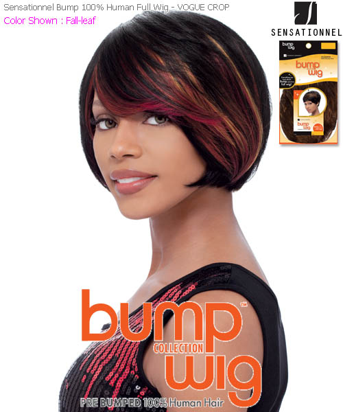 Sensationnel Human Bump Wig VOGUE CROP - Human Hair Full Wig