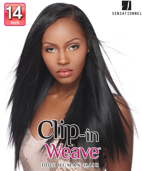 Sensationnel clip in weave yaki clip in 14 sensationnel clip in weave yaki clip in 14 human hair clip in hair extensions pmusecretfo Image collections