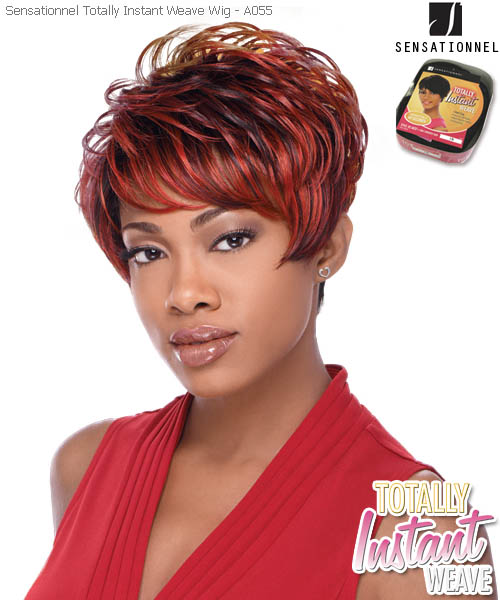 Sensationnel Totally Instant Weave A055 - Synthetic Full Wig