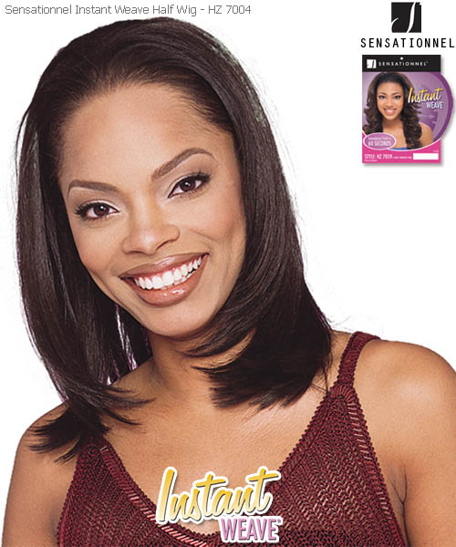 Sensationnel synthetic hair wig totally instant weave 2 in 1 style