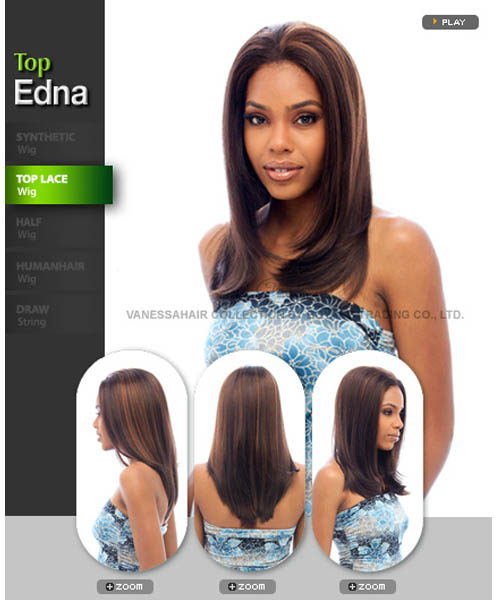 Vanessa Fifth Avenue Collection Synthetic Lace Front Wig - TOP EDNA