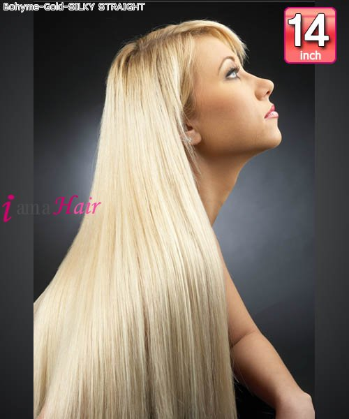 Bohyme Gold Silky Straight 14 Remi Human Hair Weave