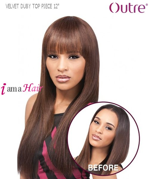 Outre Hair Piece Top 12 Velvet Duby Clip In Bangs Remi Human