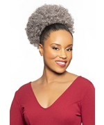 Foxy Silver Domes and Drawstrings Synthetic Hair Piece - DS015