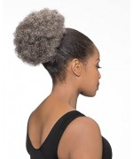 Foxy Silver Domes and Drawstrings Synthetic Hair Piece - DS007