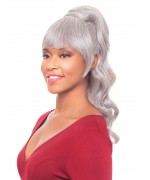 Foxy Silver Drawstrings Synthetic Ponytail Hair Piece - DUET 2