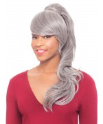 Foxy Silver Drawstrings Synthetic Ponytail Hair Piece - DUET 3