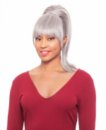 Foxy Silver Drawstrings Synthetic Ponytail Hair Piece - DUET 1