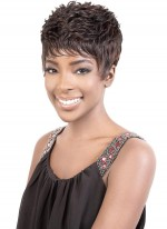 Motown Tress HIGH TEMPERATURE SHORT TAPE CURL MOHAWK WIG - CAMEO