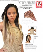 Fashion Source - STW12 Human Hair Clip-In hair Extension