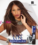 Sensationnel 100% Remi Human Hair Weave Extention - BRAZILIAN KERATIN REMI YAKI 24