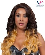 Vivica Fox Lace Front Wig MELROSE - Synthtic NATURAL BABY HAIR Lace Front Wig
