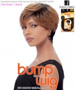Sensationnel Bump Wig FEATHER CHARM - Human Hair Full Wig