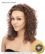 It's a wig Synthetic Braid Lace Front Wig - BRAID YOLANDA