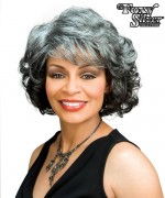 Foxy Silver Synthetic Full Wig - BARBARA