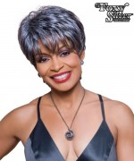 Foxy Silver Synthetic Full Wig - KATHY