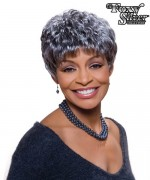 Foxy Silver Synthetic Full Wig - SASSY