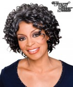 Foxy Silver Synthetic Monofilament Half Wig - ROSEMARY