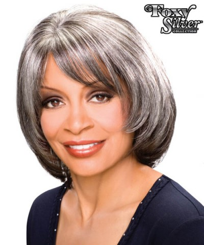 Foxy Silver Synthetic Handmade Full Wig - MADISON
