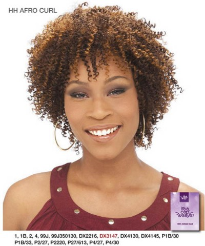 It's a wig 100% Human Full Wig - HH AFRO CURL