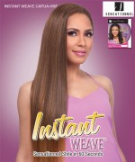Sensationnel High Quality Synthetic Hair Instant Weave Synthetic Half Wig - INSTANT WEAVE CAPUA-HRF