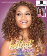 Sensationnel High Quality Synthetic Hair Instant Weave Synthetic Half Wig - MANILA- CURLING IRON SAFE