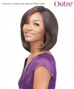 Outre Weave Extension  - FIRST LADY Premium PURPLE PACK Human Hair Blend Weave