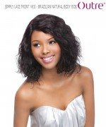 Outre Lace Front Wig - BRAZILIAN NATURAL BODY BOB  Non-Prosessed SIMPLY Lace Front Wig Remi Human Lace Front Wig