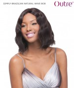 Outre Lace Front Wig - BRAZILIAN NATURAL WAVE BOB Non-Prosessed SIMPLY Lace Front Wig Remi Human Lace Front Wig