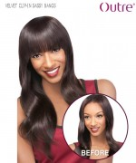 Outre Hair Piece - SASSY BANGS VELVET REMI CLIP-IN BANGS Remi Human Hair Piece