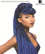 Sensationnel  Synthetic Weave Extention - AFRICAN COLLECTION-FAUX LOCKS 20 (LOOP)