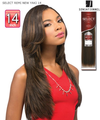 Sensationnel GODDESS Remi Human Hair Weave Extention - SELECT REMI NEW YAKI 14