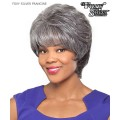 Foxy Silver Full Wig - FRANCINE Hand Stitched Synthetic Full Wig