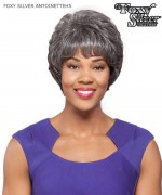 Foxy Silver Full Wig - ANTOINETTE Hand Stitched Synthetic Full Wig