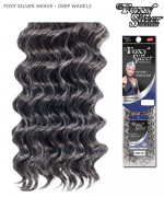 Foxy Silver Weave Extentions - DEEP WAVE 12  Human Hair Weave Extentions