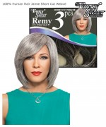 Foxy Silver Weave Extentions - SHORT CUT JAMIE  Human Hair Weave Extentions