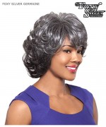 Foxy Silver Full Wig - GERMAINE Hand Stitched Synthetic Full Wig