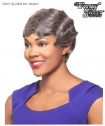 Foxy Silver Full Wig - H/H NANCY  Human Hair Full Wig