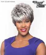 Foxy Silver Full Wig - MINNIE  Synthetic Full Wig