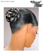 Foxy Silver Hair Piece - T-DOME  Synthetic Hair Piece
