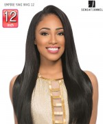 Sensationnel  100% Human Hair Weave Extention - EMPIRE YAKI WVG 12