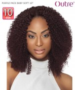 "Outre PURPLE PACK BABY SOFT 10"" Human Hair Weave Extension"