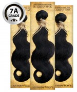 Virgin Human Hair BODY WAVY 3 PC(NATURAL COLOR) -  7A (105 Gram each, 3 bundle with free closure-$19.99 value)