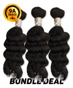 Top Hair Design  - BRAZILIAN 100% Virgin Human Hair DEEP WAVY 3 PC(NATURAL COLOR) -  9A (105 Gram each, 3 bundle with free closure-$19.99 value)