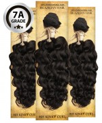Top Hair Design  - BRAZILIAN 100% Virgin Human Hair KINKY CURL 3 PC(NATURAL COLOR) -  7A (105 Gram each, 3 bundle with free closure-$19.99 value)